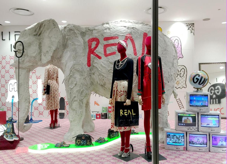 藝術家Trouble Andrew特別為Dover Street Market Ginza的大象房間打造專屬空間。