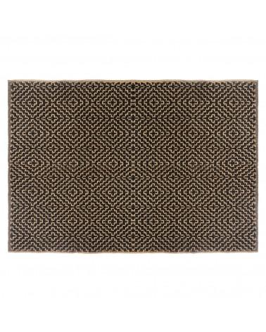 tapis en jute de coton noir
