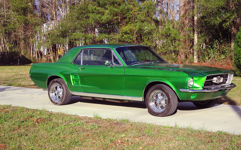 Classic Car Restoration Ford Mustang 1967 passenger side by Mill Creek Classics Car Restoration and Sales