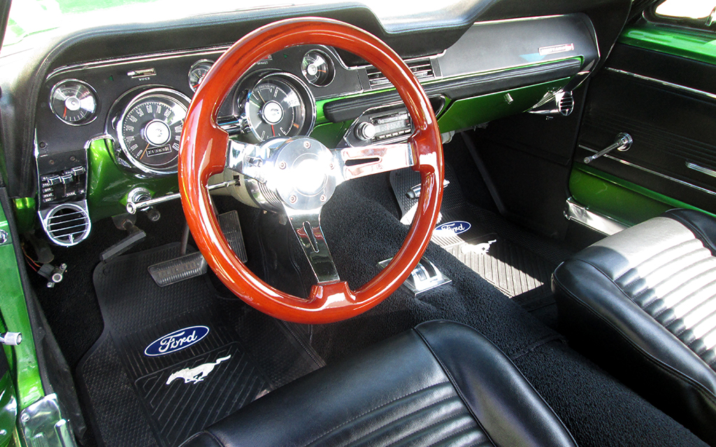 Classic Car Restoration Ford Mustang 1967 front interior by Mill Creek Classics Car Restoration and Sales