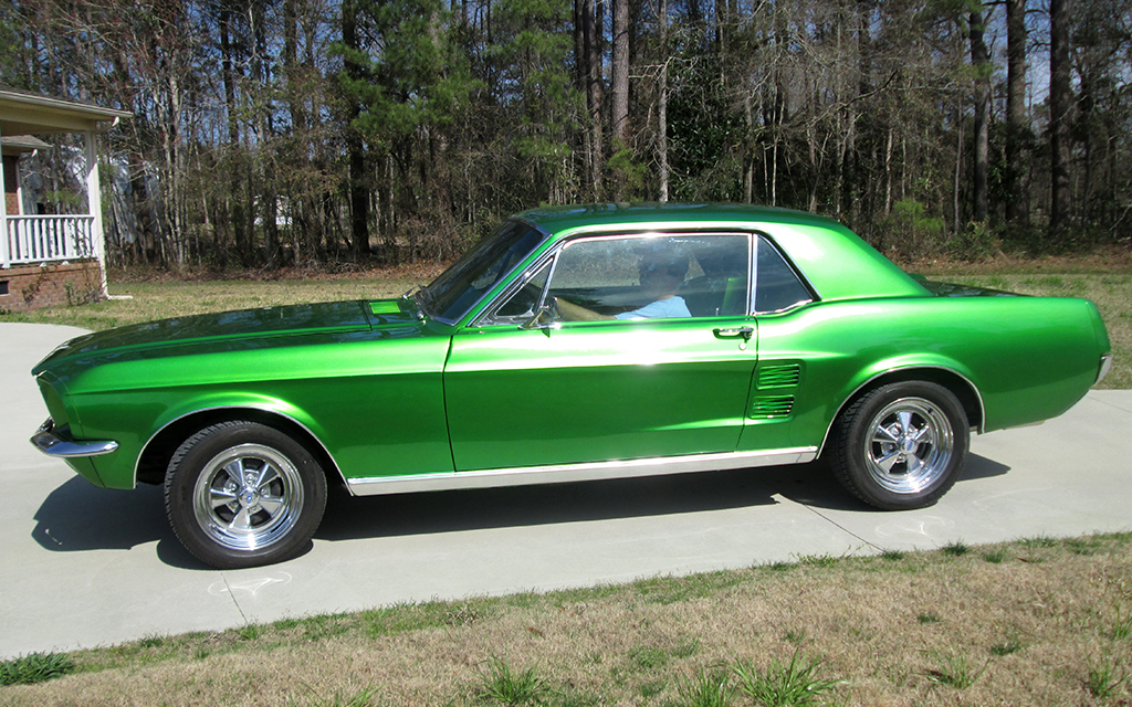 Classic Car Restoration Ford Mustang 1967 left side by Mill Creek Classics Car Restoration and Sales