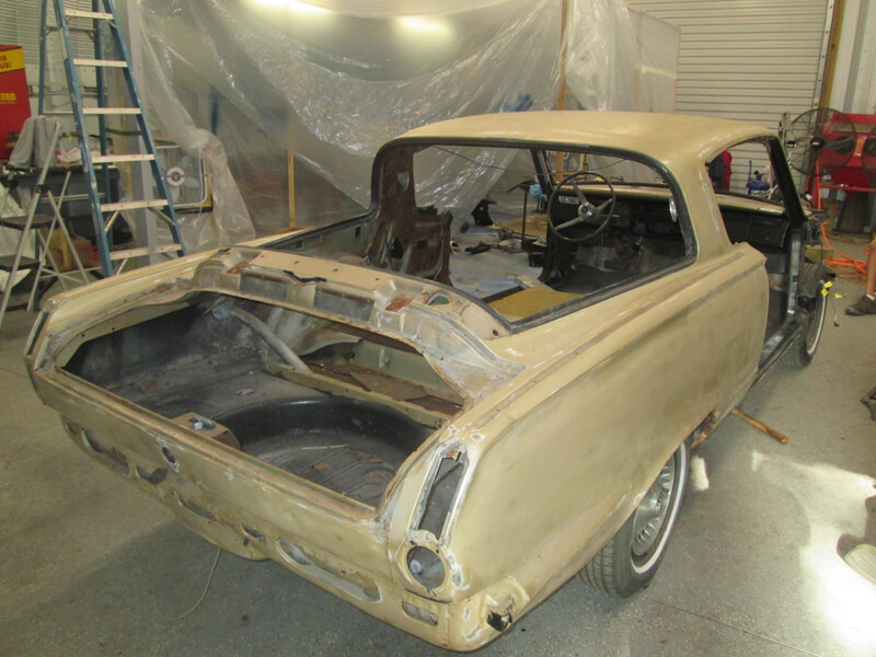 Classic Car Restoration Classic Car Plymouth Barracuda 1965 - Further into dismantling process.