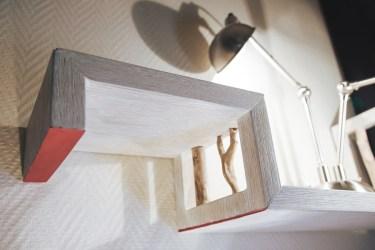 [Creation] Etagère en chêne cérusé et bois flotté