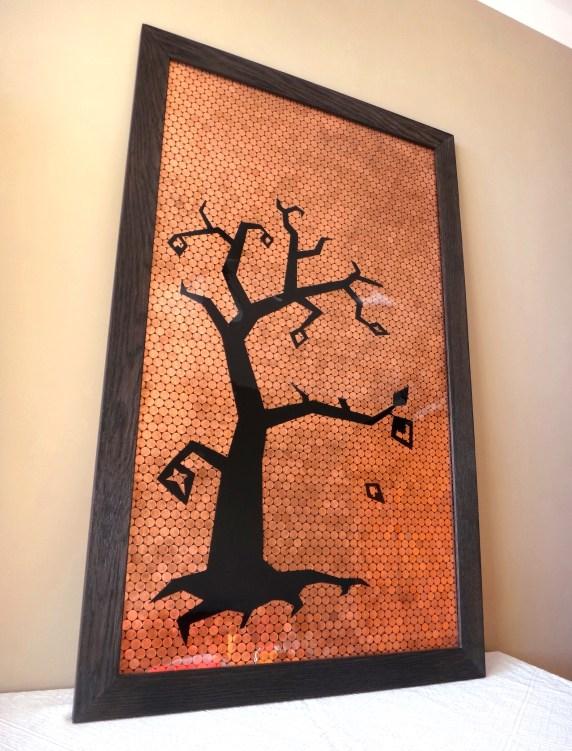 [Creation] Tableau en chêne, pièces et résine