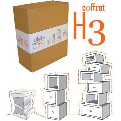 coffret cadeau h3 hubi hekilibre creer ses meubles en carton