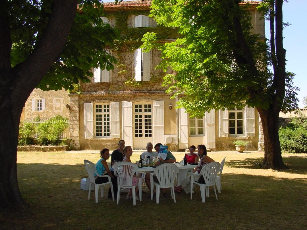 Pause dans le parc de Millefeuille Provence