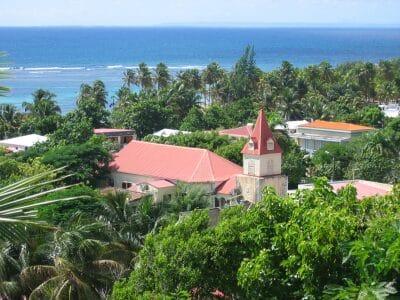 LA DÉSIRADE - bourg de Grande Anse