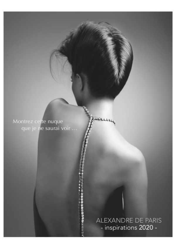 alexandre de paris nuque look book 2020 pour millemariages