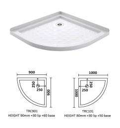 corner waste arc shower tray 900 900 [ 2086 x 2134 Pixel ]