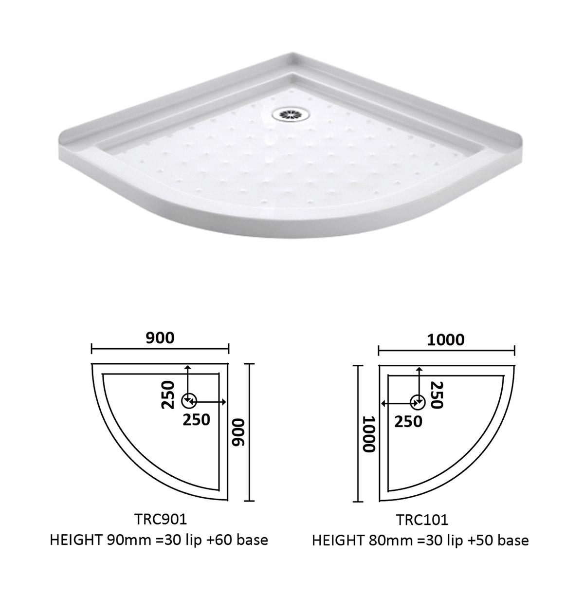 hight resolution of corner waste arc shower tray 900 900