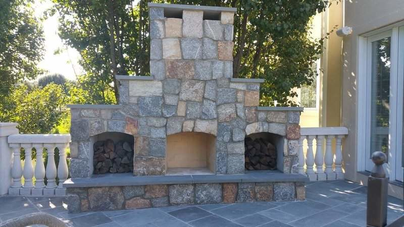 Outdoor Fireplace Photos  Firepit Design Images