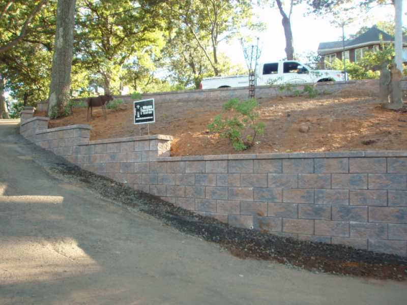 Retaining Wall Photos  Retaining Wall Construction Images