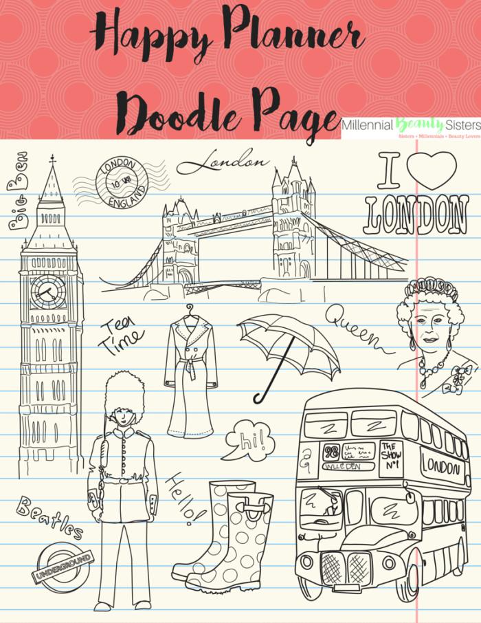 Fab Planner Friday Doodles in London millennialbeautysisters.com