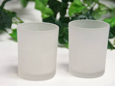 3inch frosted votive holder