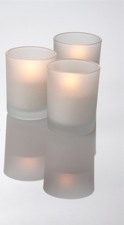 72pcs FROSTED VOTIVE CANDLE HOLDER