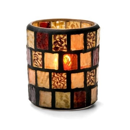 Amber Mosaic Candle Holder