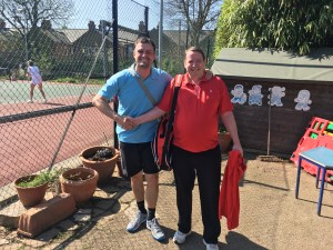 Terry and Tom scored a win for Norbury Park in the men's doubles