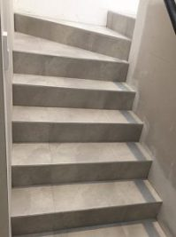 Ceramic Tile On Stairs
