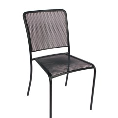 Steel Chair For Hotel Blue Bay Rum Price Chesapeake Outdoor Side Millennium Seating