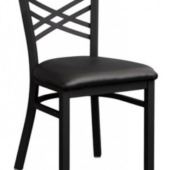 Commercial Seating Chairs Single Glider Chair Outdoor H D Millennium Usa Restaurant Cross Back Metal Textured Black Finish Vinyl Seat