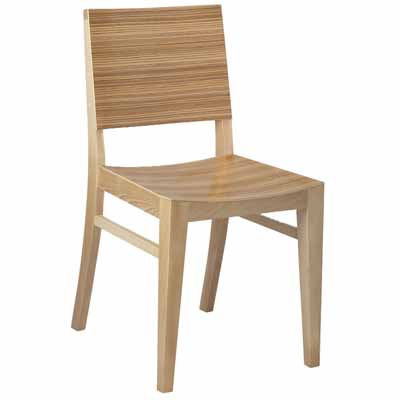 wooden restaurant chairs with arms striped slipper chair madison wood millennium seating