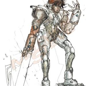 Grandeur Original Character Illustration 9″ x 12″