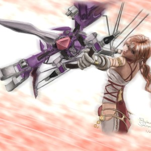 Illustration of Serah from Square-Enix's Final Fantasy XIII-2 17″ x 11″ Glossy Print