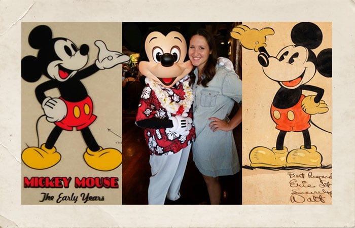 Lacey with Mickey Mouse