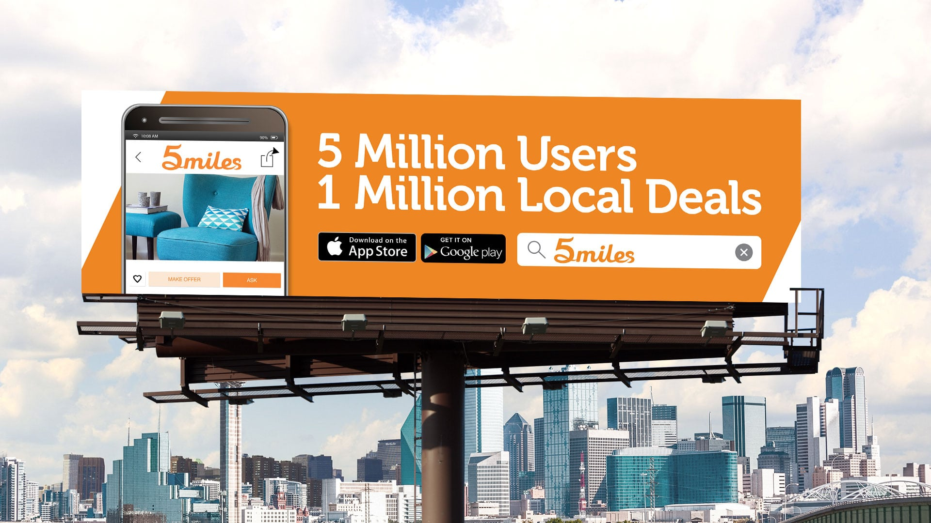 Billboard: 5Miles 5 Million Users