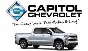 Capitol Chevrolet Logo and a Silverado truck