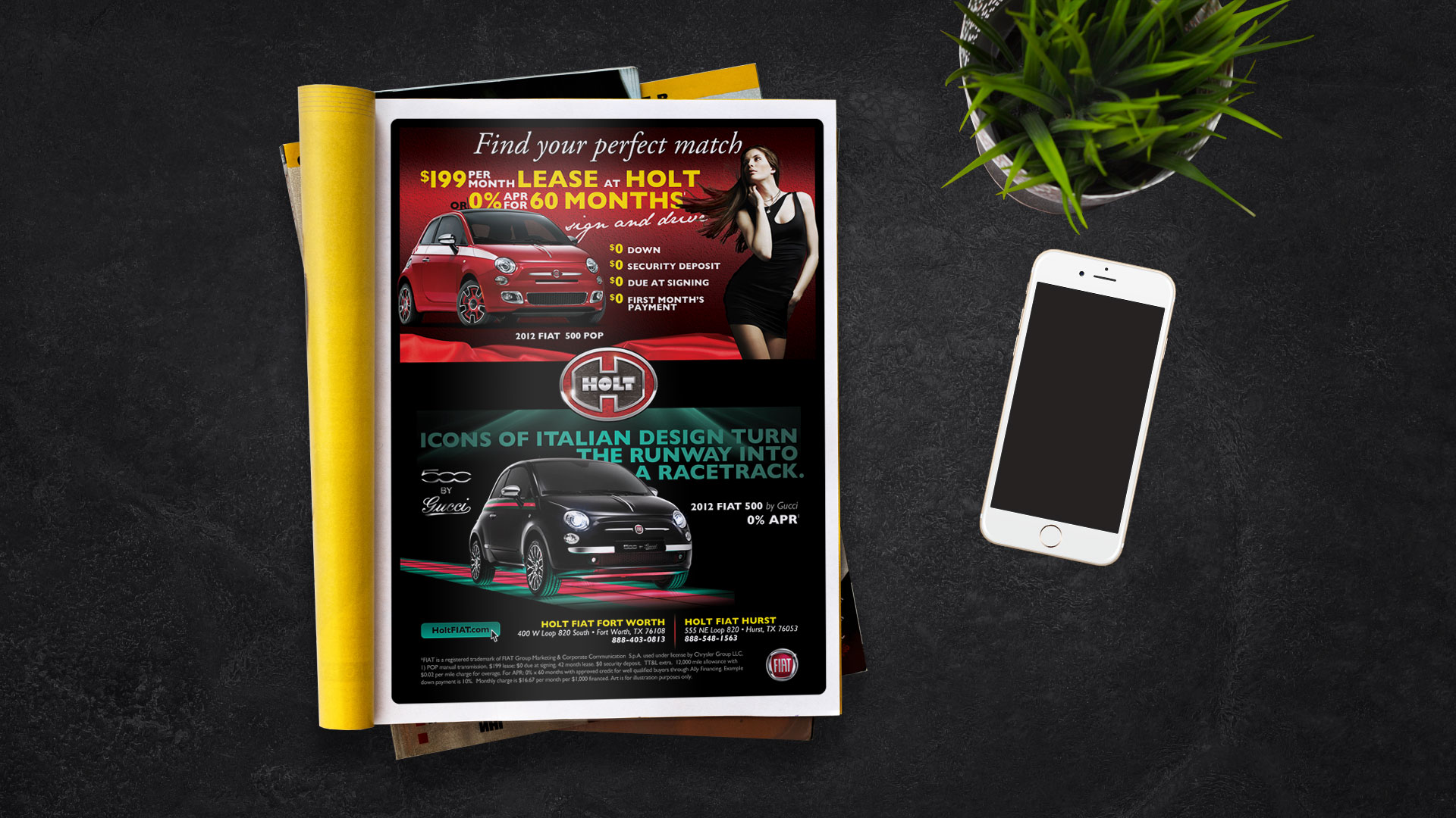 Magazine Ad: Holt Fiat Find Your Match