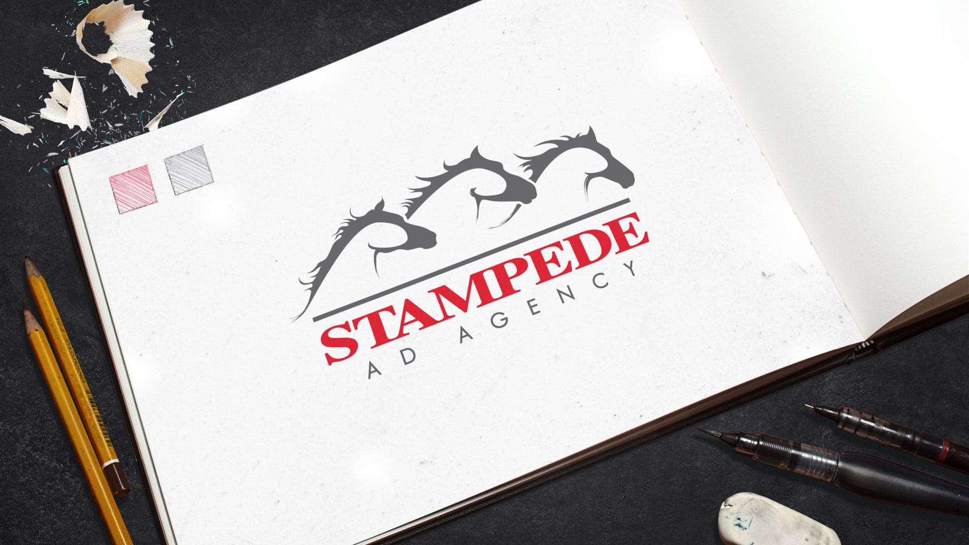 Logo Design: Stampede Advertising