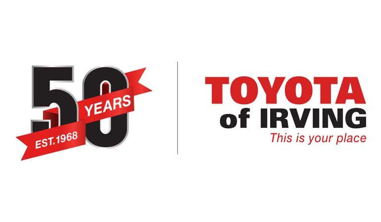 Toyota of Irving - 50 years anniversary logo