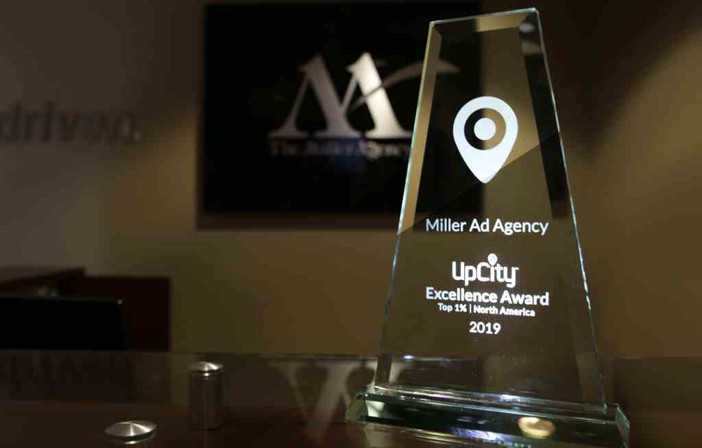 Miller Ad Agency won the UpCity Excellence Award 2019