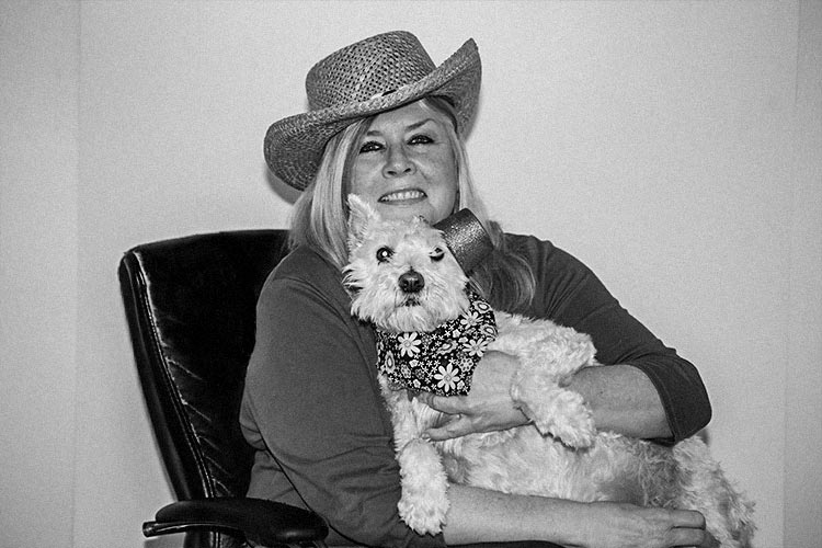 Debbie with her dog Sadie