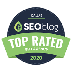 2020 Top Rated SEO Agency in Dallas badge