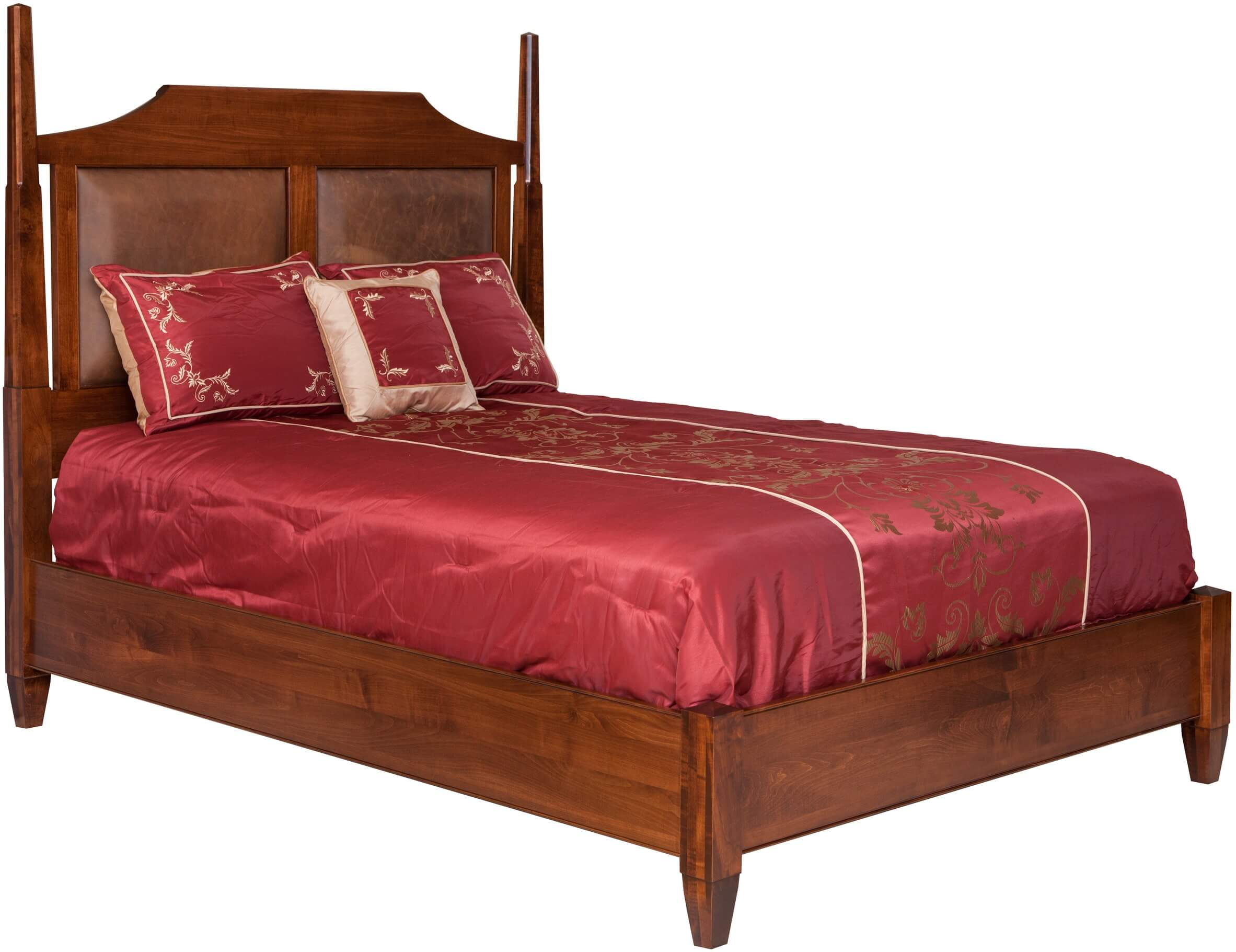 Park Avenue 5th Avenue Bed w/ Leather Panel Headboard