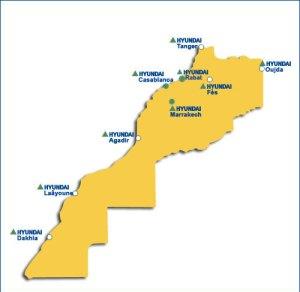Hyundai Maroc réseau