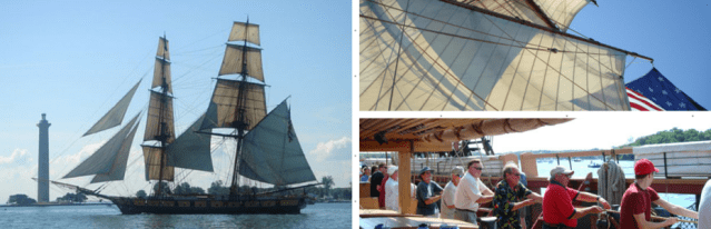 Tall Ship U.S. Brig Niagara visits Put-in-Bay
