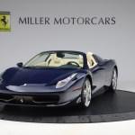 Pre Owned 2013 Ferrari 458 Spider For Sale Miller Motorcars Stock 4614