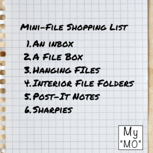 Mini-File Shopping List to Get Organized