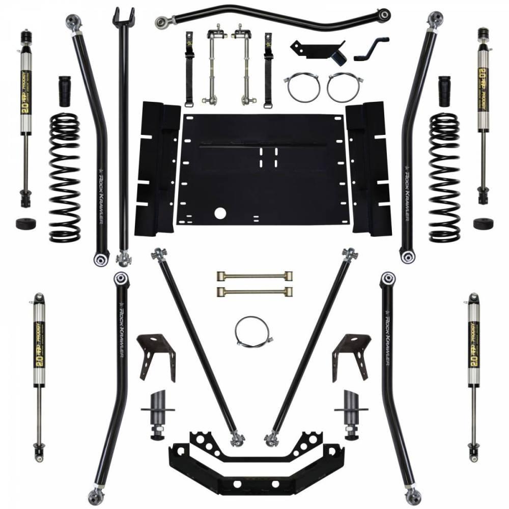 medium resolution of rock krawler suspension 5 5 inch long arm lift kit w shocks 8 inch stretch