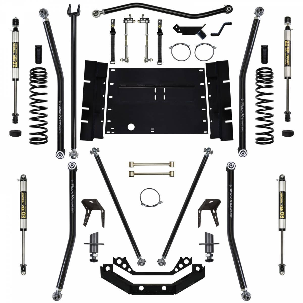 hight resolution of rock krawler suspension 5 5 inch long arm lift kit w shocks 8 inch stretch