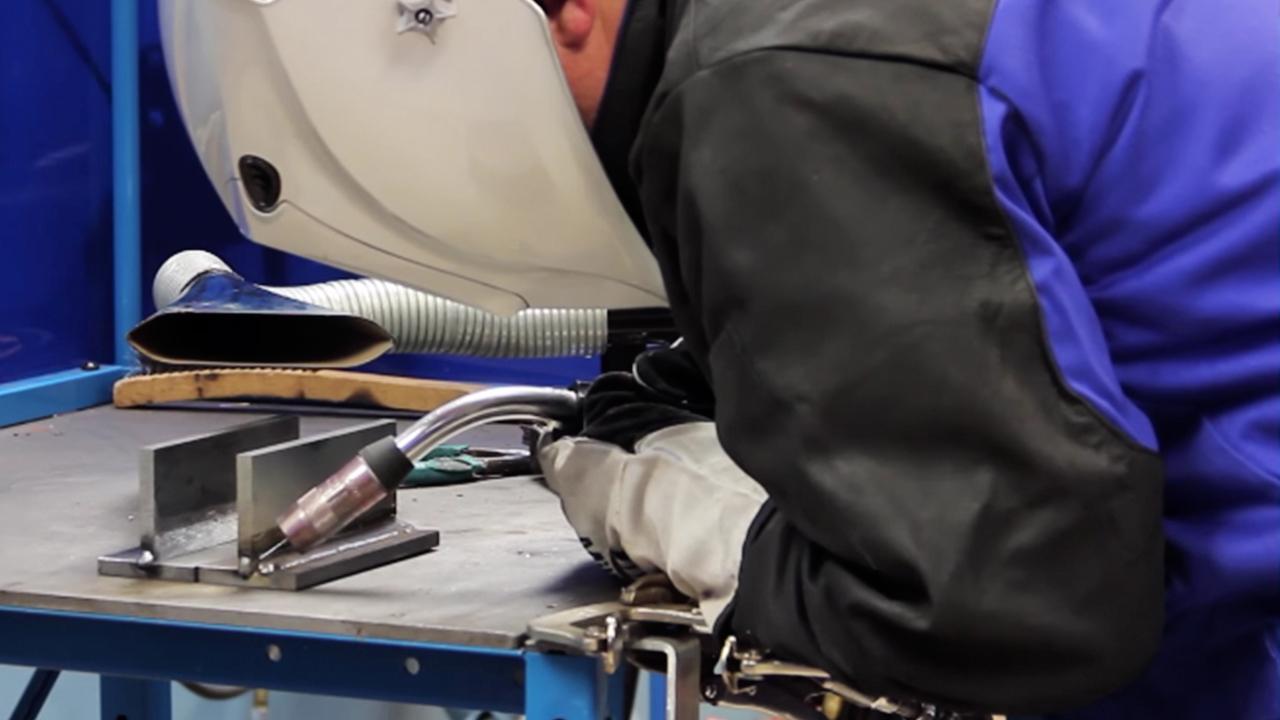medium resolution of close up horizontal fillet weld