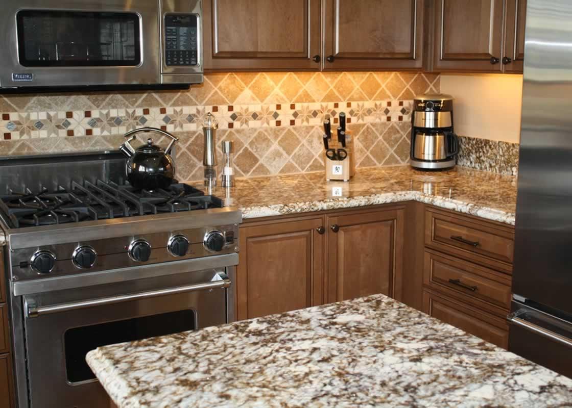 Caramel Brown Granite Kitchen MilleStone Marble Amp Tile