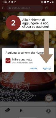 Mille e una notte app consegna a domicilio