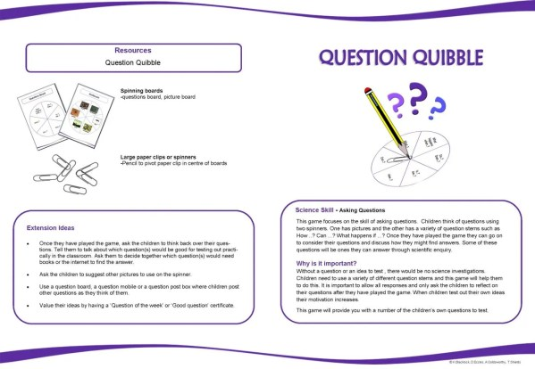 Science Enquiry Games 4-7 - early years science enquiry skills
