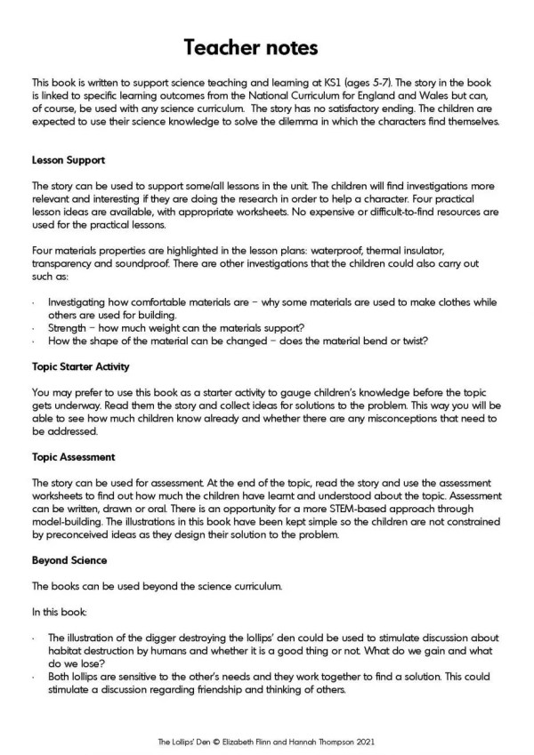 Lollips Den Resources Example 1 Page 2