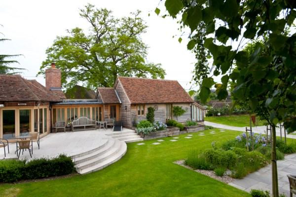 farmhouse garden millhouse landscapes