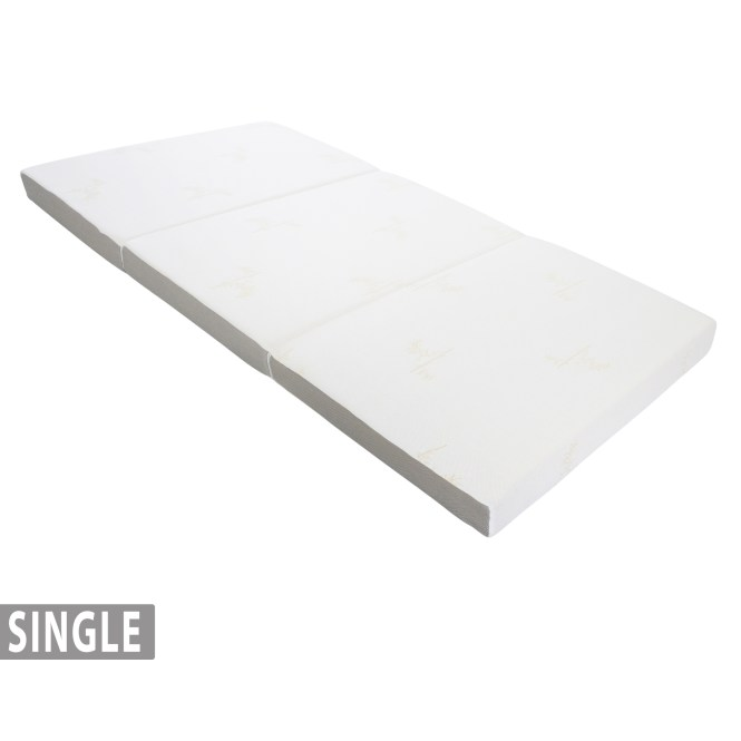 4 Tri Fold Foam Mattress With Cover